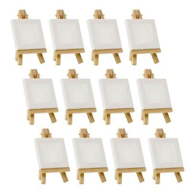 "3""x3"" Miniature Canvas & Easel Sets  1"