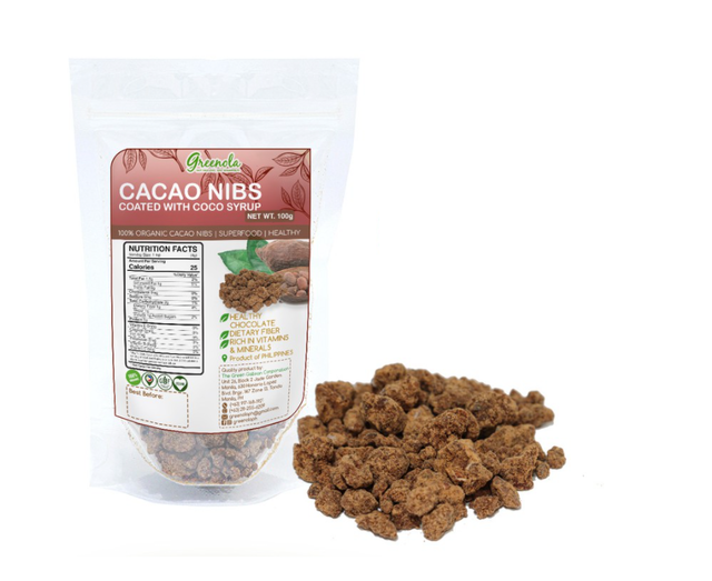 Organic Cacao Nibs Coated with Coco Syrup 1