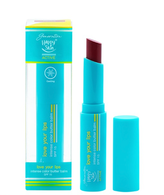 Happy Skin  Love Your Lips Intense Color Butter Balm SPF 15 1