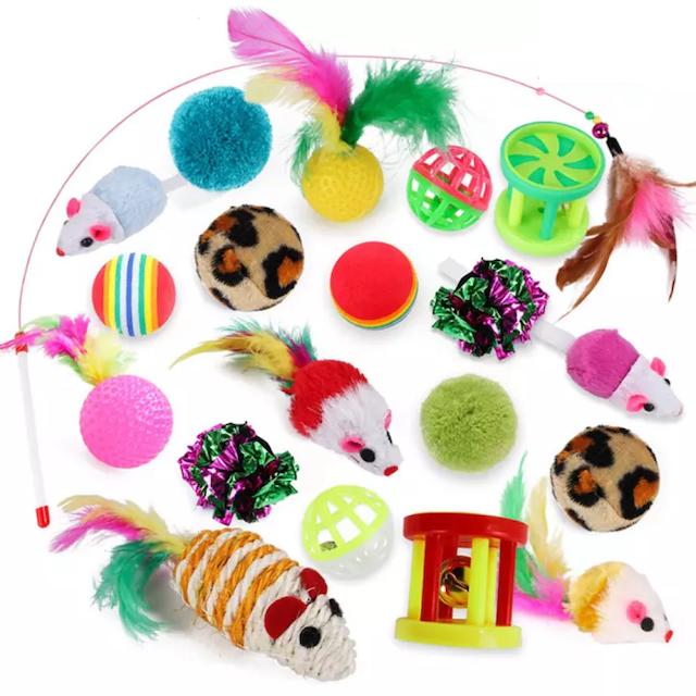 20-Piece Pet Cat Toy Combination Various Toy Sets 1