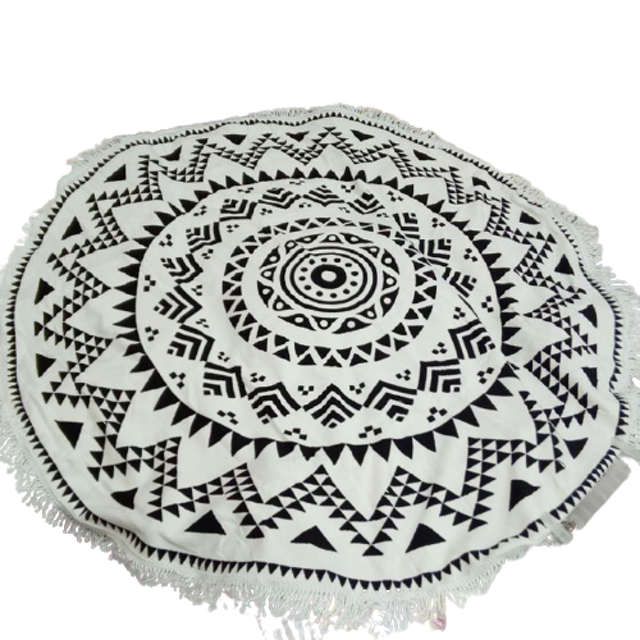 Printed Round Beach Towel 1