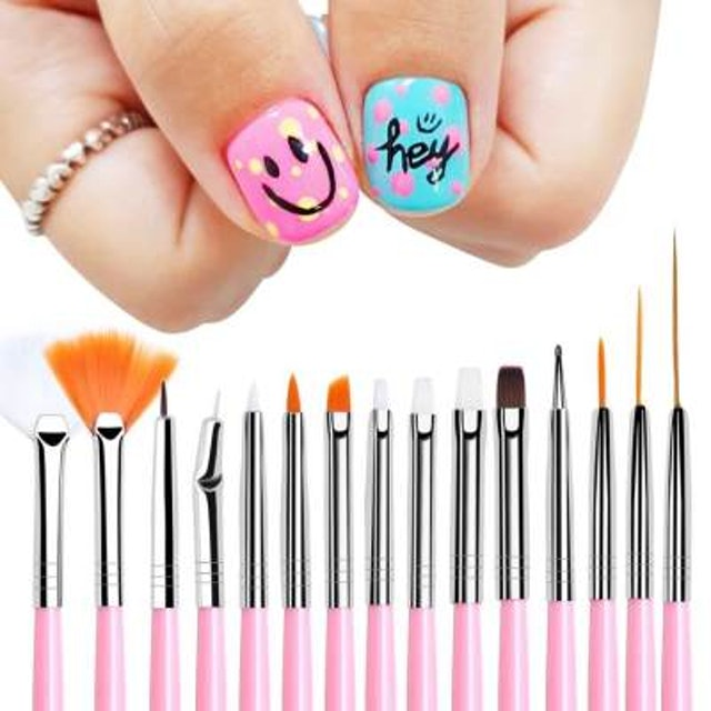 15-Piece Nail Art Brush Set 1