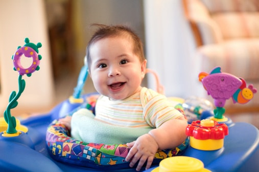 A Seated or Convertible Walker is Best for Babies 4 Months Old and Above