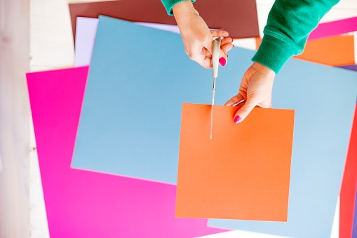 Add Strips of Colored Paper for Extra Texture