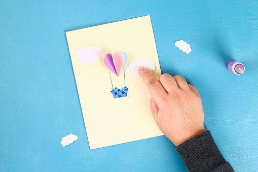 Use Gift Wrapper Cutouts to Decorate the Card and Box