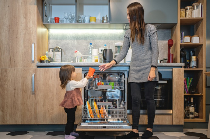 Child Lock Feature Provides Safety Measures While the Dishwasher Is in Use