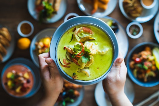 Thai Curry Has Light and Bright Colors and Flavors