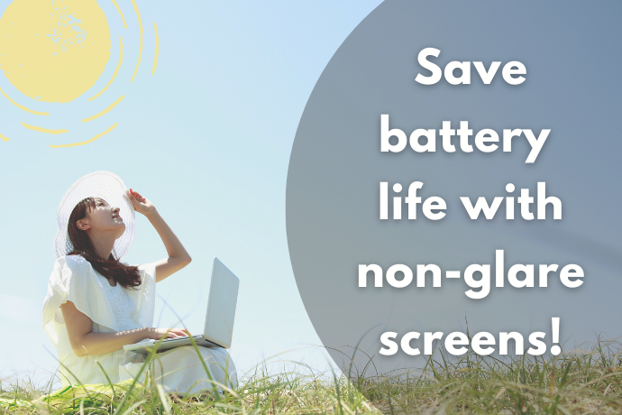 Non-glare and Smaller Screens if You Want to Conserve Battery Life