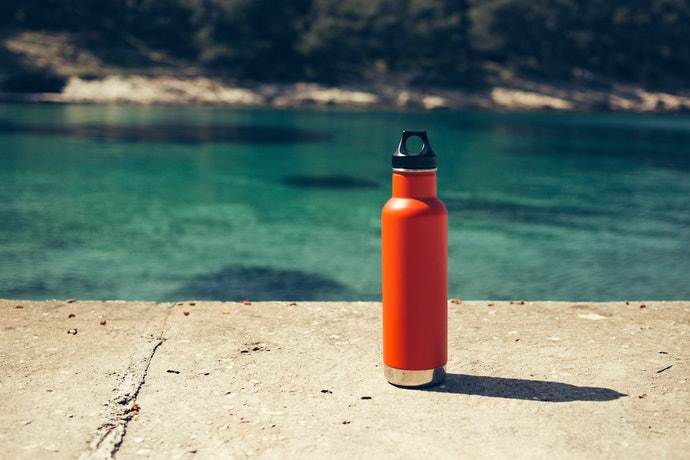 A Medium-Sized Insulated Water Bottle Lessens Refills