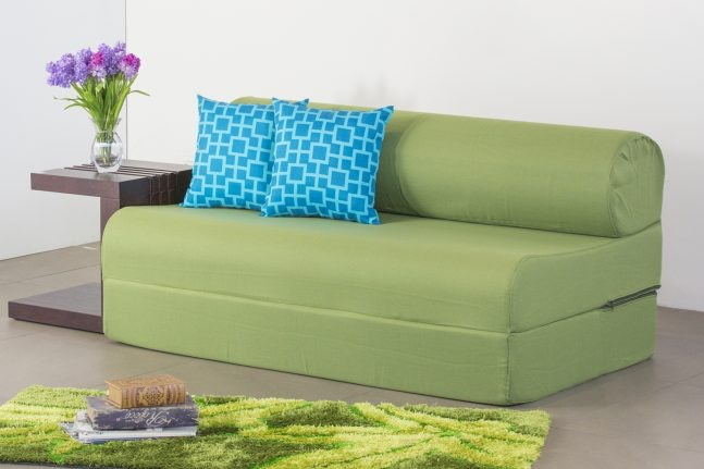 Tri-fold Sofa Bed for a Slim Look