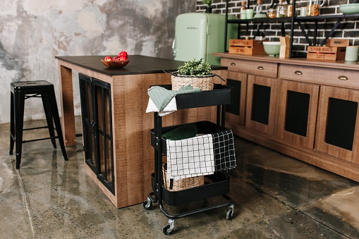 Consider Small Space Solutions Such as Rolling Carts