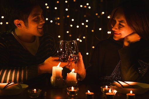 1. Dress Up for a Candlelit Dinner