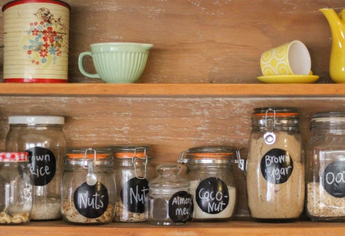 Organize the Pantry Using Airtight Canisters and Baskets