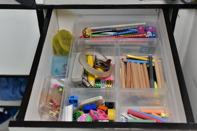 Use Trays to Sort Small Items in Your Drawers