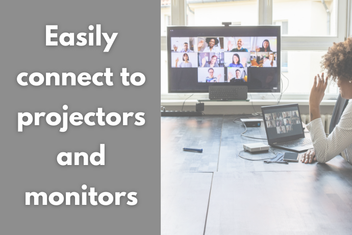 Look for an HDMI or a VGA Slot to Easily Connect to Projectors or Monitors