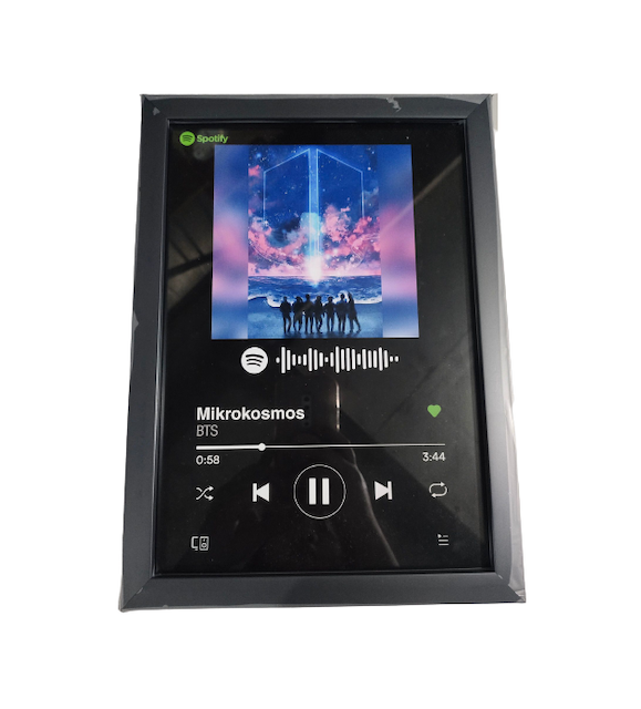 Customized Spotify Playlist Frame For His Room 1