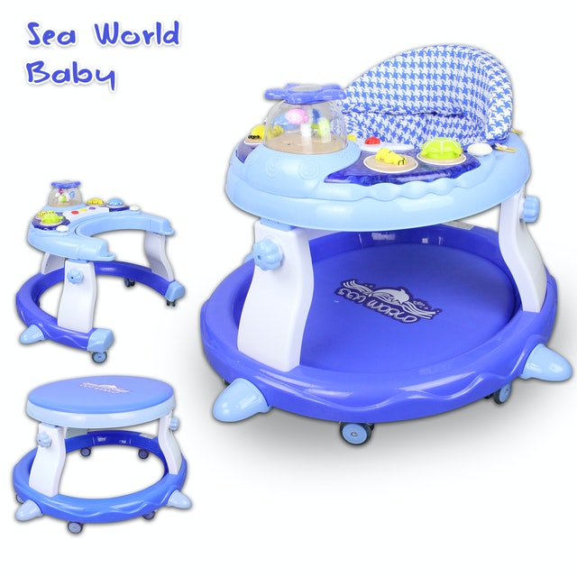 Sea World K527 Convertible Musical Baby Pusher Walker into Table 1