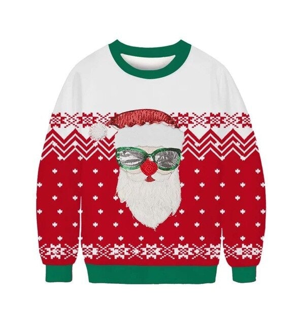 China OEM Funny Ugly Christmas Sweaters with Cat Designs 1