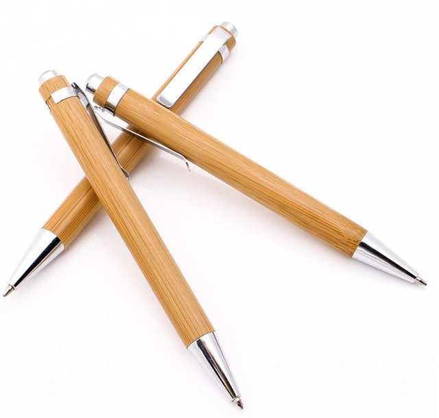 Personalized Bamboo Refillable Ballpoint Pen  1