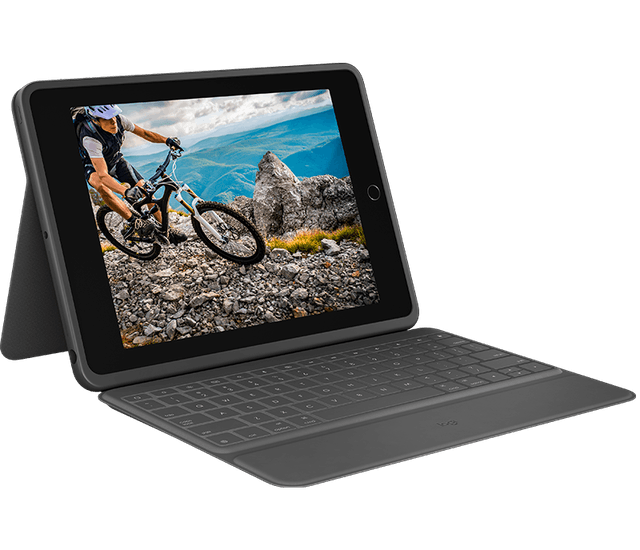 Logitech Rugged Folio Durable iPad Case with Spill-Proof Keyboard  1