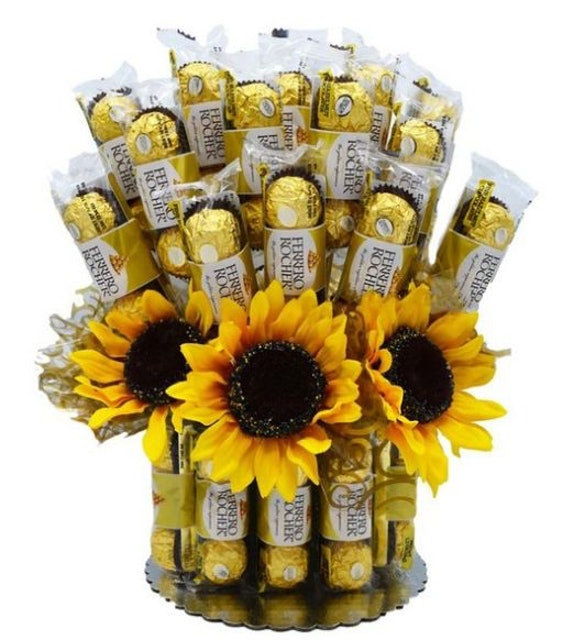 Flower Delivery Philippines Sunflower Ferrero Candy Bouquet 1