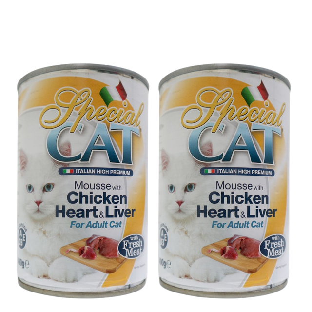 Special Cat Mousse Chicken Heart & Liver Cat Food 1