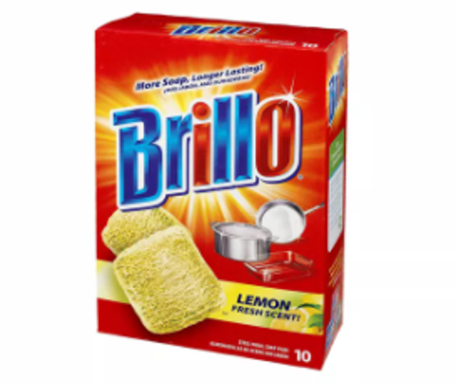 Brillo® Steel Wool Soap Pads Lemon Fresh Scent 10 Count 1