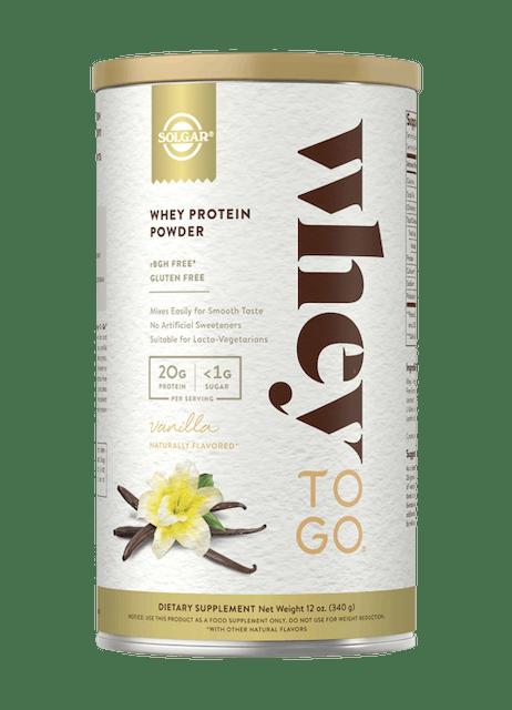 Solgar Whey to Go® Protein Powder Natural Vanilla Flavor 1