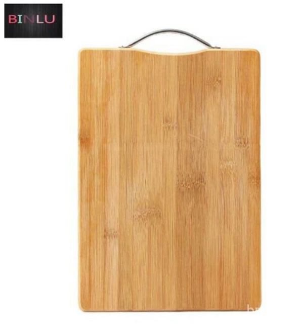 Bamboo Wood Chopping Board with Stainless Steel Handle 1