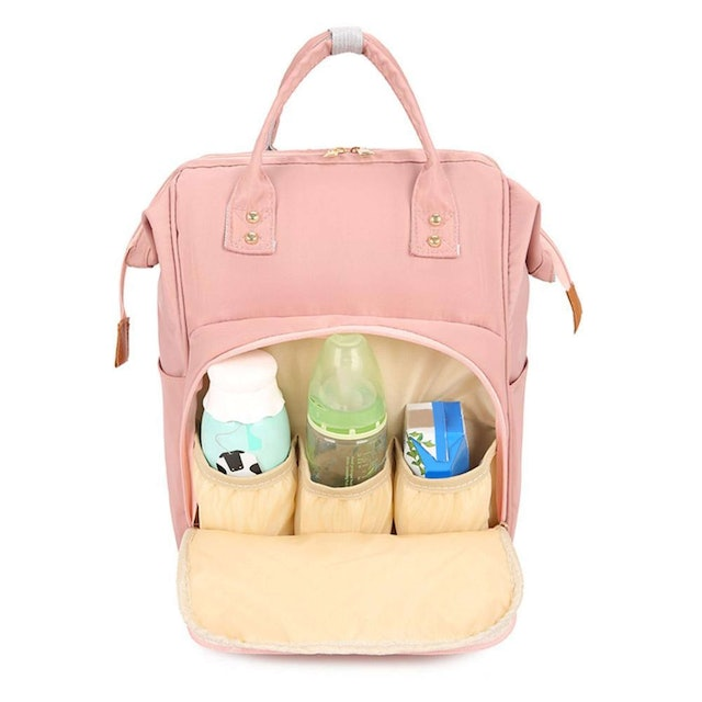 Mojoyce Pure Color Mommy Travel Backpack 1