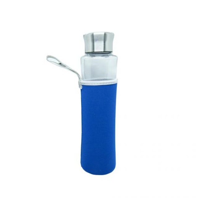 Masflex Glass Water Bottle with Cover 1