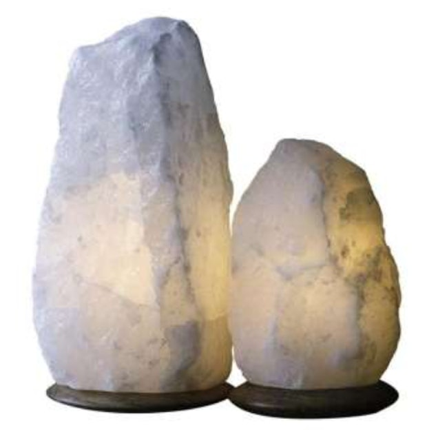 Snow-White Himalayan Salt Lamp with Dimmer Switch 1