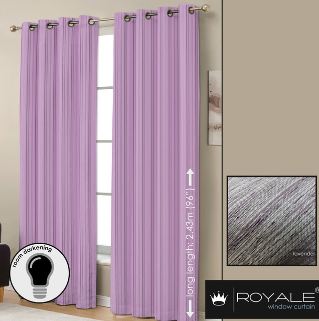 Royale Curtain House Textured Lavender Blackout Curtain 1
