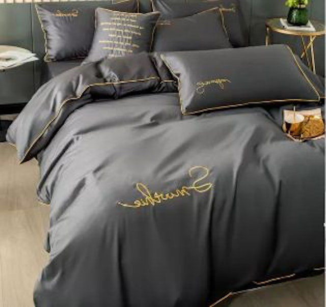 Dansunreve Embroidery Quilt Cover Bed Set 1