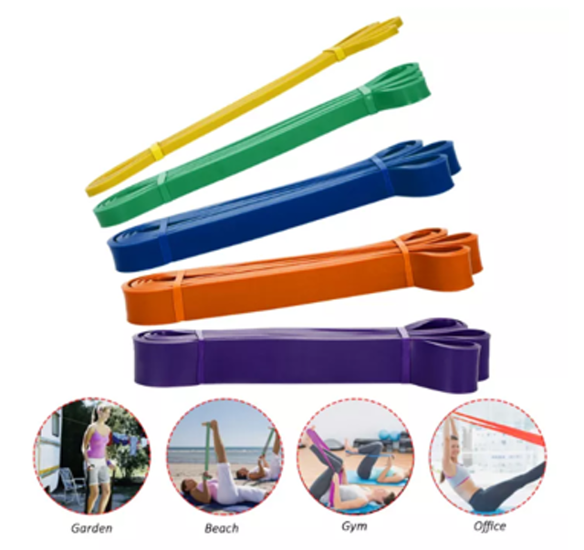Lixada Pack of 5 Resistance Loop Bands 1