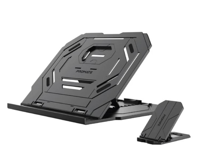 Promate Foldable Laptop and Smartphone Riser Stand 1