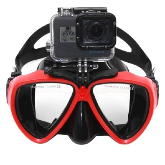 Telesin Diving Goggle Snorkel Mask With Go Pro Camera 1