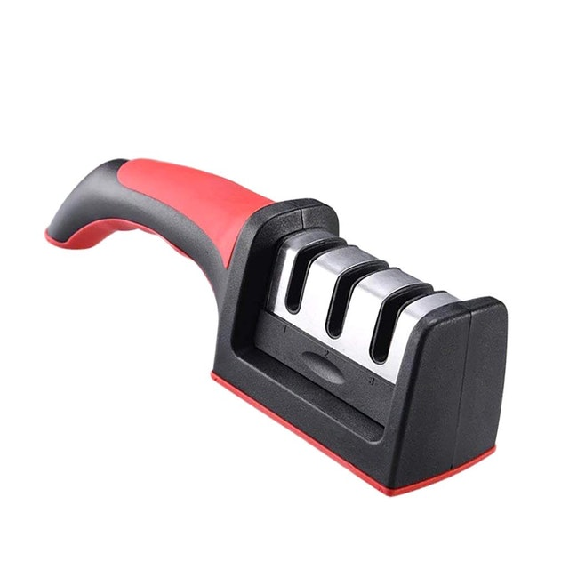 Fityle Stainless Steel 3-in-1 Knife Sharpener  1