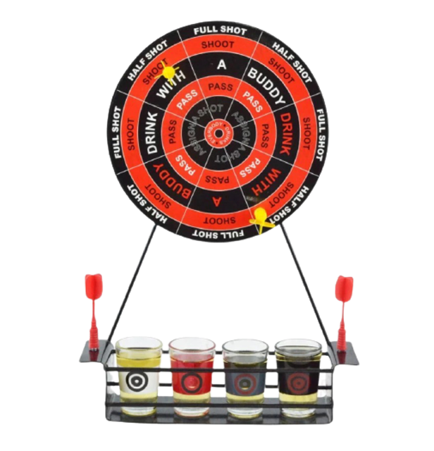 Mini Dart Game With Shot Glasses 1