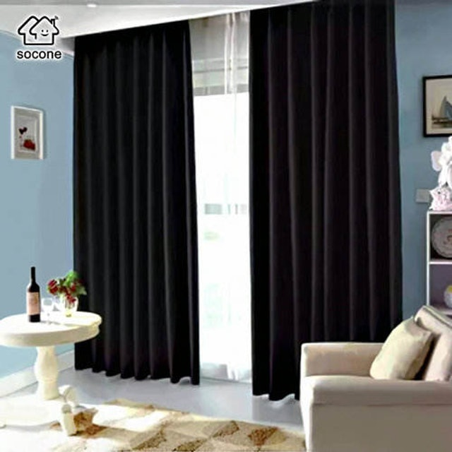Socone 3-in-1 Black Curtain Set 1