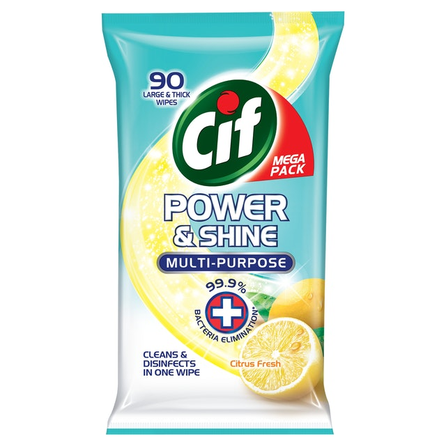Cif  Power and Shine Antibacterial Wipes 1
