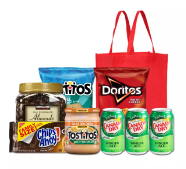 Holiday Christmas Chips Nuts and Cheese Basket 1