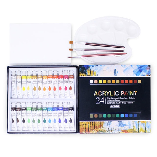 AICRANE 24-Color Acrylic Paint Set 1