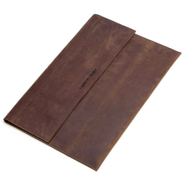 Contact's  Distressed Genuine Leather Sleeve 1