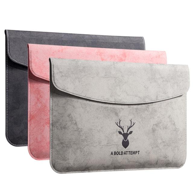 OEM Laptop Suede Leather Flap Envelope Sleeve 1