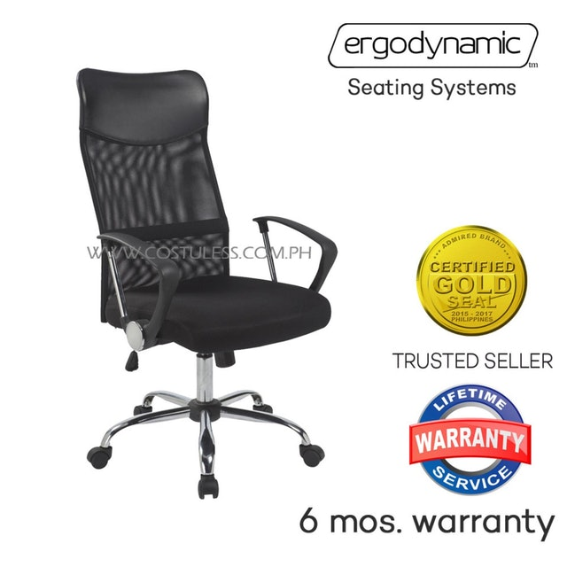 Ergodynamic  EHC-77P High Back Mesh Upholstery Office Chair 1